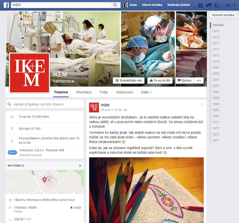 Institut Klinické a Experimentální Medicíny na Facebooku